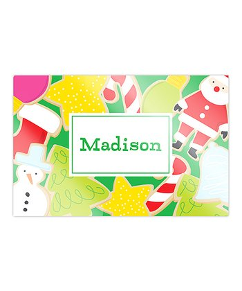 Holiday Treats Personalized Place Mat