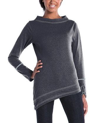 lur® Charcoal Boatneck Top - Women