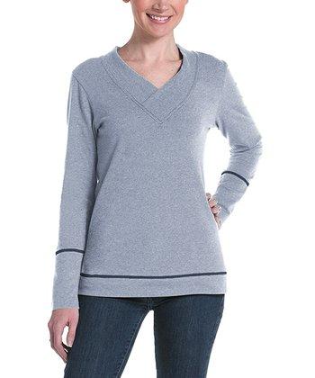 lur® Ash Honeysuckle V-Neck Sweater - Women
