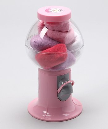 Pink Gumball Machine & Sock Set