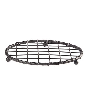 Black Serpentine Round Wire Trivet