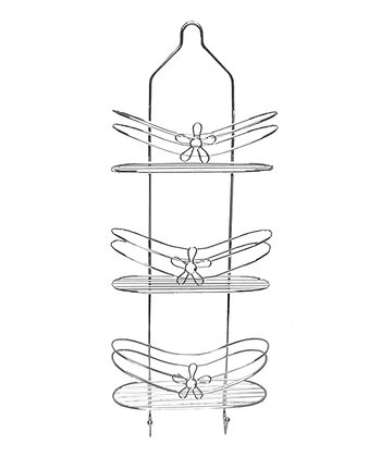 Chrome Daisy Three-Tier Shower Caddy