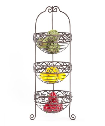Orb Scroll Three-Tier Basket