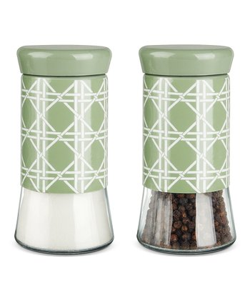 Sweet Pea Crisscross Glass Salt & Pepper Set
