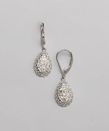 Diamond & Silver Teardrop Earrings