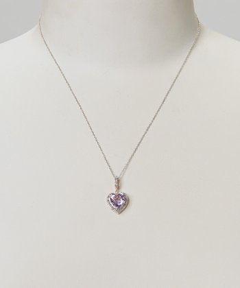 Diamond & Rose Gold Amy Heart Pendant Necklace