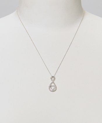 Diamond & Silver Infinity Heart Pendant Necklace