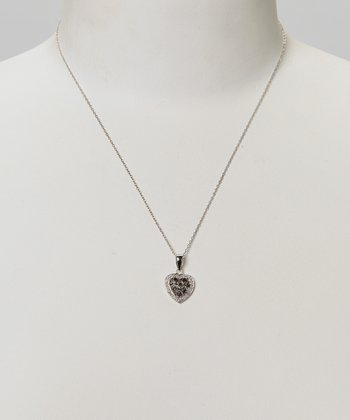 Diamond & Silver Heart Locket