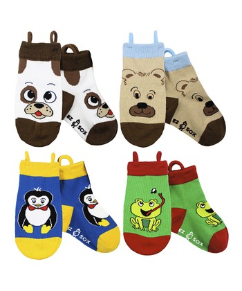 Blue & Brown Animal Socks Set - Kids