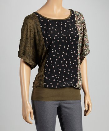Root Green Dolman Top