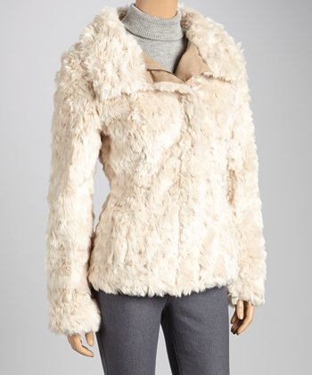 Khaki Faux Fur Coat