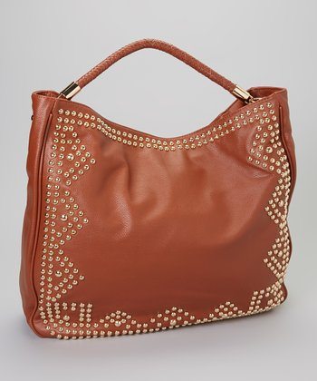 Brown Studded Tote