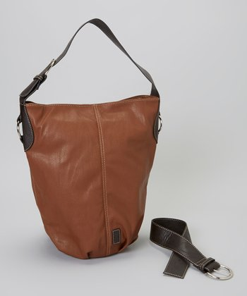 Chestnut Barrel Bucket Bag