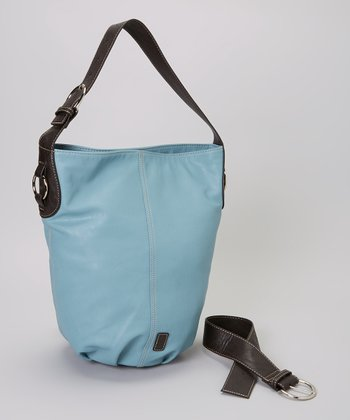 Wedgewood Blue Barrel Bucket Bag
