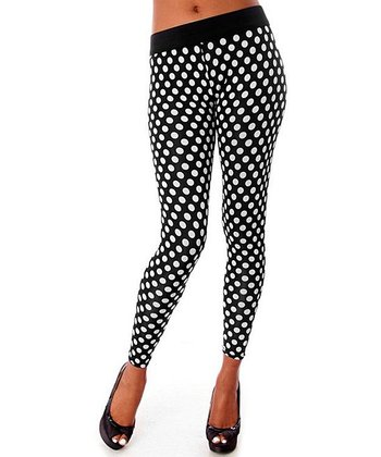 Black & White Dot Leggings