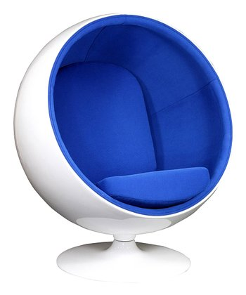 Blue Kaddur Lounge Chair