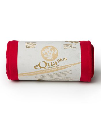 Red eQua Plus Yoga Mat Towel