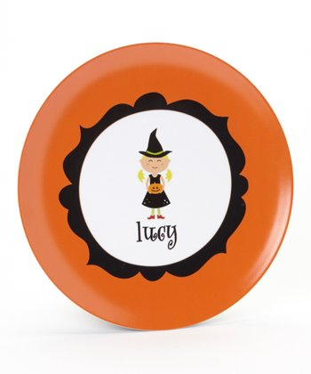 Blonde Witch Personalized Plate