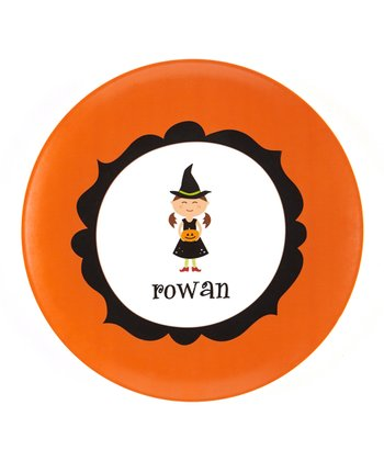Brown-Haired Witch Personalized Plate