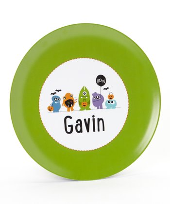 Halloween Monsters Personalized Plate