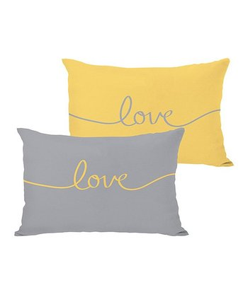 Mimosa & Gray 'Love' Mix & Match Throw Pillow