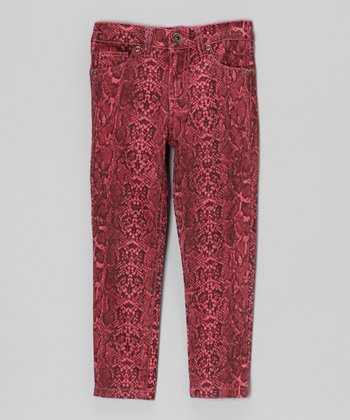 Rose Snake Skinny Pants - Toddler & Girls
