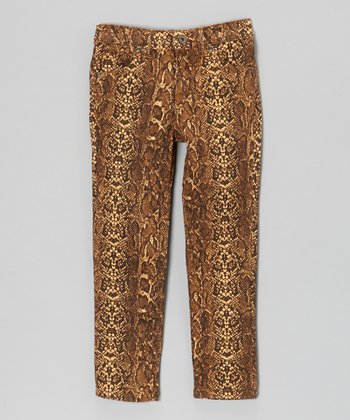 Chocolate Snake Skinny Pants - Toddler & Girls