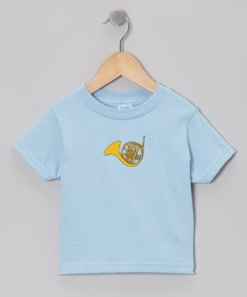 Blue French Horn Tee