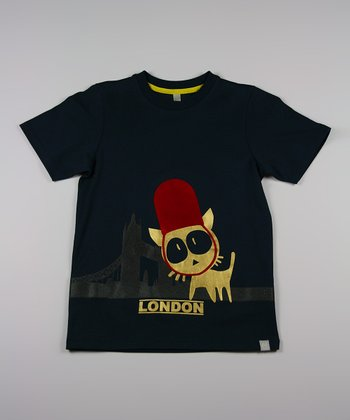 Black Get Lost in London Tee - Toddler & Kids