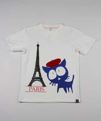 White Get Lost in Paris Tee - Toddler & Kids