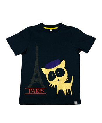 Black Get Lost in Paris Tee - Toddler & Kids