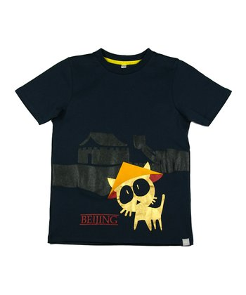 Black Get Lost in Beijing Tee - Toddler & Kids
