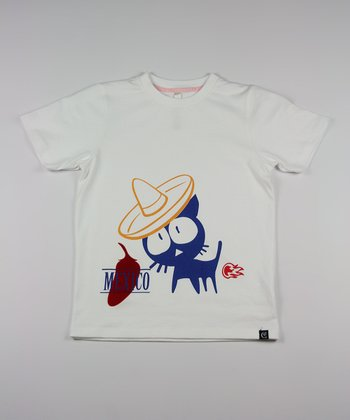 White Get Lost in Mexico Tee - Toddler & Kids