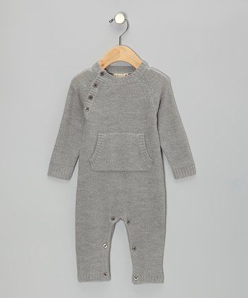 Gray Merino Wool Playsuit - Infant