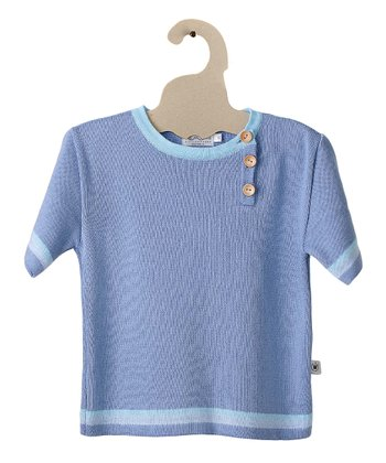 Blue Monster Fish Organic Tee - Toddler & Boys