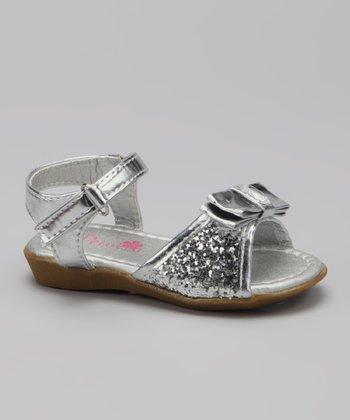 Silver Glitter Destiny Sandal