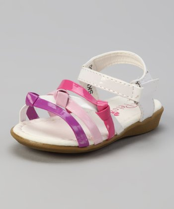 Pink & White Patent Hope Sandal
