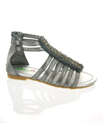 Pewter Strappy Gladiator Sandal