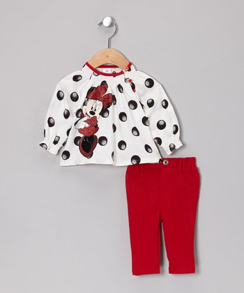 Red Minnie Mouse Swing Top & Jeggings