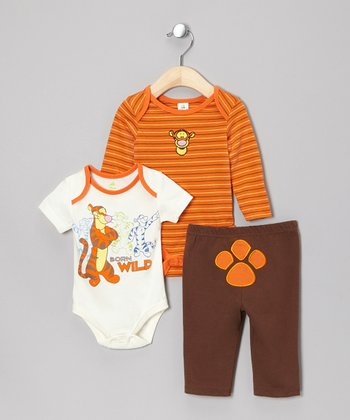 Orange Tigger Bodysuit Set