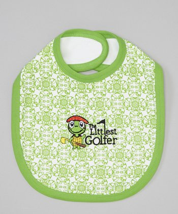 Green Retro Print Bib