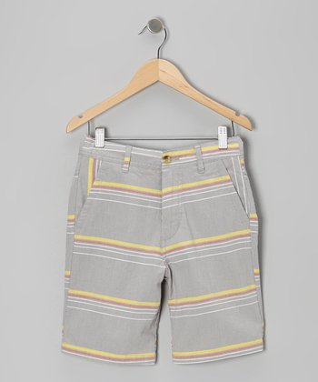 Harbor Gray Pop Stripe Shorts