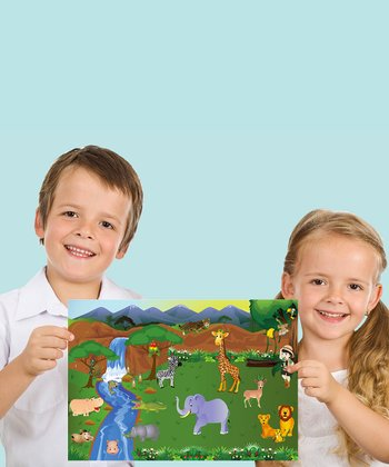 Jungle & Dino Travel Peel & Play Set