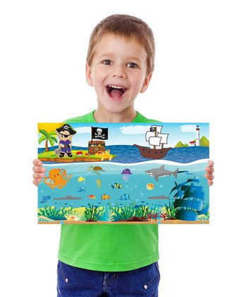 Ocean Boy & Pirate Travel Peel & Play Set