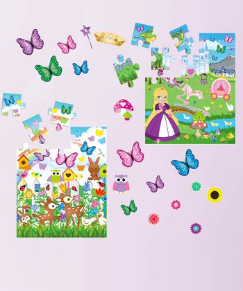 Butterfly & Princess Peel & Play Puzzle Set