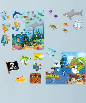 Ocean Boy & Pirate Peel & Play Puzzle Set
