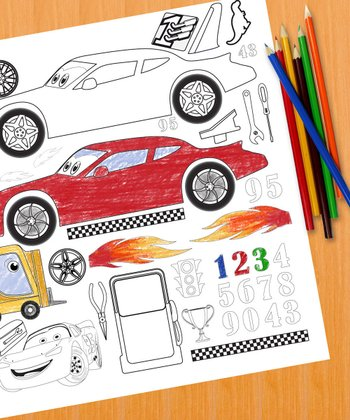 Design a Racecar Color Me Peel & Play Art Set