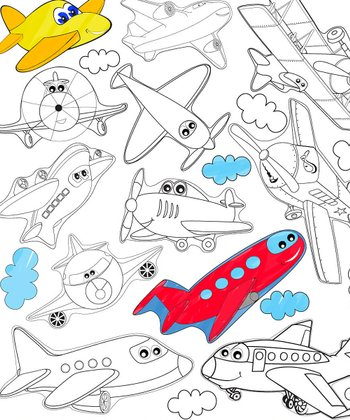 Design a Plane Color Me Peel & Play Art Set