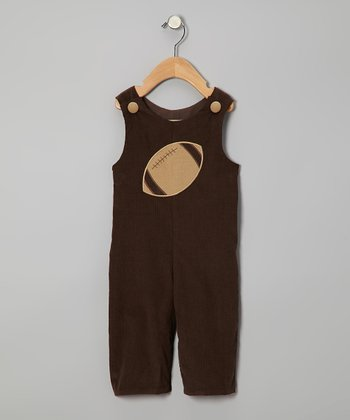 Brown Football Corduroy Playsuit - Infant & Toddler