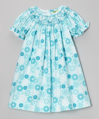 Blue Snowflake Bishop Dress - Infant, Toddler & Girls